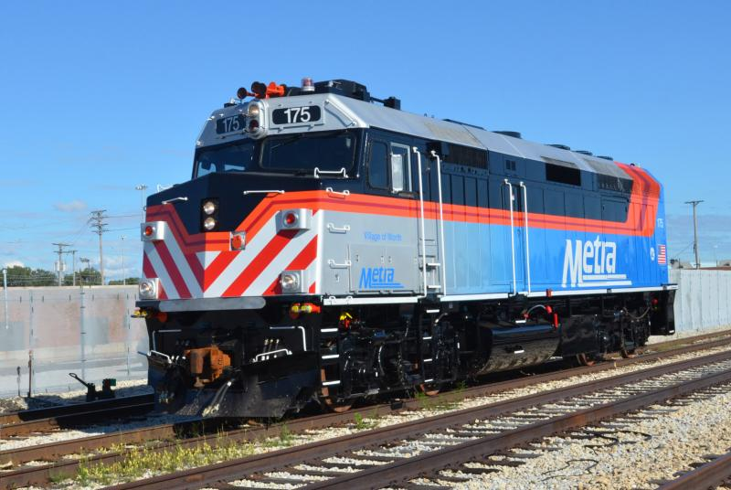 First Rebuilt Locomotive Returns To Service Metra