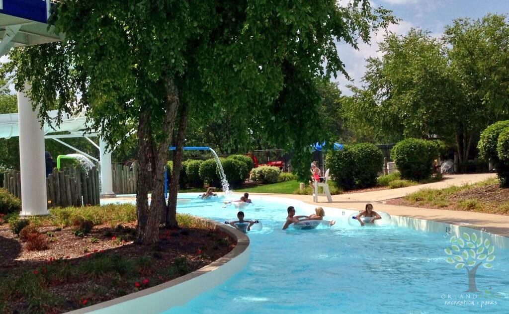 Snorkel in the Lazy River at Centennial Park Aquatic Center